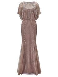 Ariella Couture Steffy Embellished Maxi Dress Nude