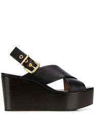 Marni Crossover Straps Wedge Sandals 60