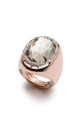 Alexis Bittar Halo Signet Ring Rose Gold