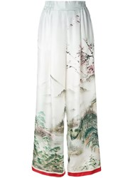 F.R.S For Restless Sleepers Landscape Print Palazzo Trousers