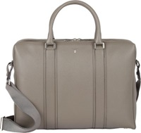 Serapian Two Compartment Briefcase Grey