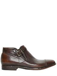 Alberto Fasciani Washed Buffalo Leather Ankle Boots