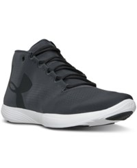 Under Armour Women's Street Precision Mid Running Sneakers From Finish Line Stealth Gray Black
