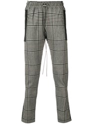 Represent Checked Track Pants Grey