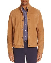 Michael Kors Suede Harrington Jacket Khaki