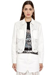 Mcq By Alexander Mcqueen Short Cotton Denim And Lace Jacket