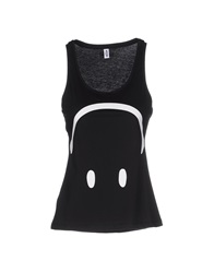 Moschino Swim Tank Tops Black