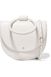 Theory Whitney Leather Shoulder Bag White
