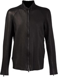 Salvatore Santoro High Neck Zipper Jacket Black