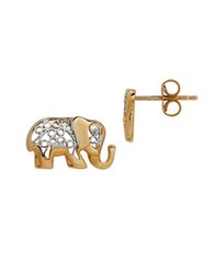 Lord And Taylor 14K Gold Elephant Stud Earrings