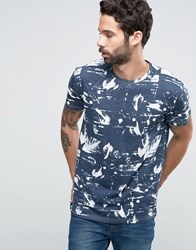 Solid All Over Print T Shirt Navy 1991