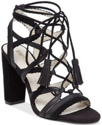 Bcbgeneration Ronny Strappy Lace Up Sandals Women's Shoes Black