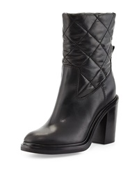 New Leonie Quilted Leather Boot Black Moncler