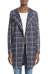 Junior Women's Astr Windowpane Plaid Oversize Jacket