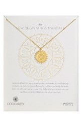 Dogeared Women's The New Beginnings Mandala Pendant Necklace Gold