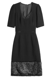 Marco De Vincenzo Fitted Dress With Shimmer Hem Black