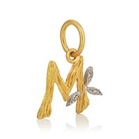 Cathy Waterman Branch Initial Pendant Gold