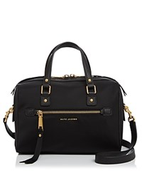 Marc Jacobs Trooper Bauletto Nylon Satchel Black Gold