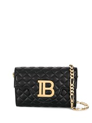Balmain Quilted Leather Bbag Cross Body Black