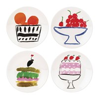 Kate Spade Pretty Pantry Appetiser Plates Set Of 4