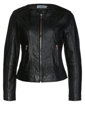 Soaked In Luxury Laiajack Leather Jacket Black
