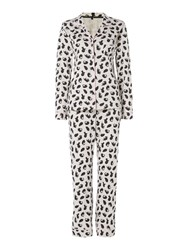 Therapy Cat Revere Pj Set Oatmeal