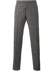 Christian Dior Homme Floral Print Trousers Black