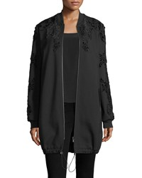 Kobi Halperin Gerri Knit Coat W Velvet Applique Black
