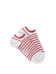 Falke Striped Trainer Socks White Multi