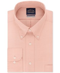 Eagle Men's Classic Fit Stretch Collar Non Iron Solid Dress Shirt Sunset