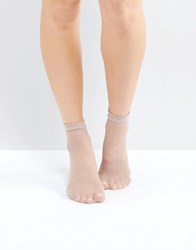Gipsy Micro Fishnet Sock Taupe Cream