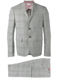 Thom Browne Classic Woven Suit Men Cupro Wool 1 Grey