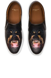 Givenchy Printed Street Skate Leather Sneakers In Black Animal Print