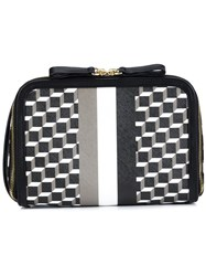 Pierre Hardy Geometric Print Clutch Black