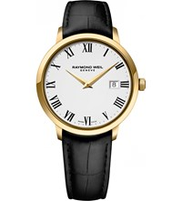 Raymond Weil 5488 Pc 00300 Toccata Stainless Steel Yellow Gold Pvd And Leather Watch