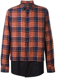 Raf Simons Checked Shirt Red