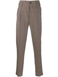 Vivienne Westwood Houndstooth Check Trousers Red