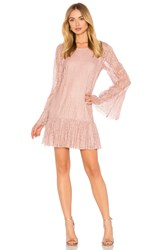 Bcbgeneration Double Tiered Dress In Rose Smoke Pink