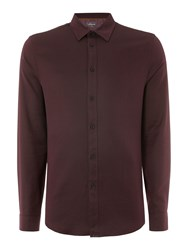 Linea Men's Lyon Russian Twill Shirt Burgundy