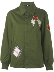 Opening Ceremony Patch Detail Jacket Green
