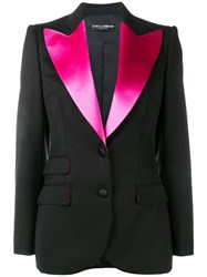 Dolce And Gabbana Satin Lapel Tuxedo Jacket Black