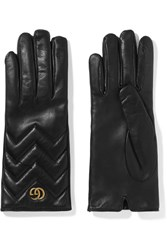 Gucci Marmont Quilted Leather Gloves Black Usd