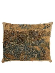 By Walid 17Th Century Flemish Tapestry Cushion Grey Multi