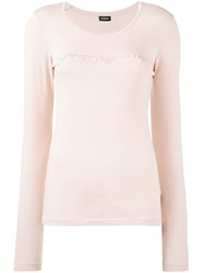 Emporio Armani Longsleeved Jersey Nude And Neutrals
