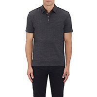 John Varvatos Men's Jersey Polo Shirt Dark Grey
