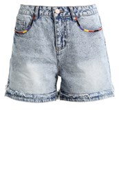 Noisy May Nmbe Donna Denim Shorts Medium Blue Denim