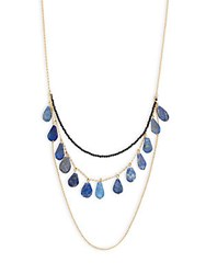 Mhart Lapis And Sterling Silver Layered Necklace Yellow