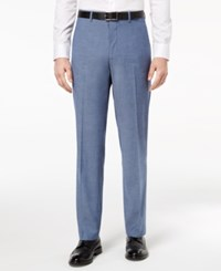 Alfani Red Men's Slim Fit Performance Stretch Light Blue Suit Pants Created For Macy's