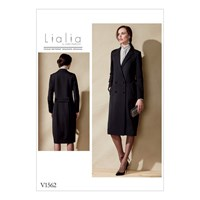 Vogue Intermediate Julia Alarcon Double Breasted Coat Sewing Pattern