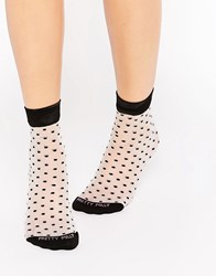Pretty Polly Sheer Spot Sock Black